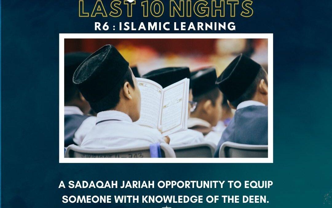 R6 – ISLAMIC LEARNING